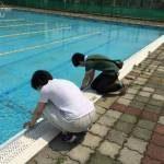 今度は、学校のプール検査にいってきました